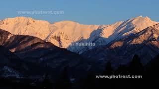 谷川岳の動画素材, 4K写真素材