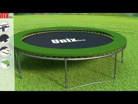 Батут Unix Line 14 ft inside Зеленый