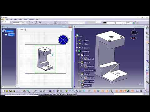 CATIA Certification Exam Question # 1 & 2 Drafting - YouTube