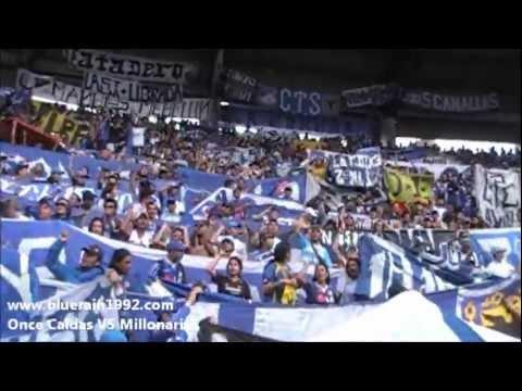 """""""millonarios vs once caldas CUARTOS DE FINAL 2 manizales"""" Barra: Blue Rain • Club: Millonarios"""