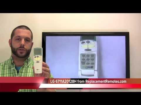 LG 6711A20128H Air Conditioner Unit Remote Control