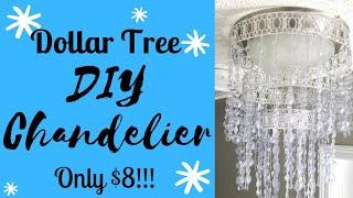 DIY DOLLAR TREE GLAM CHANDELIER HOME DECOR || ONLY $8!!