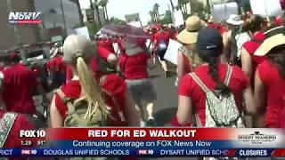 RED FOR ED: Matt Galka & Pilar Arias discuss first day of AZ walkout (FNN)