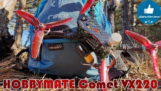 ✔ Отличный Гоночный FPV Квадрокоптер - HOBBYMATE Comet VX220! С