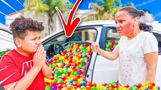 11 Year Old Kid Fills Mom's Car With ONE MILLION BALLS! **GETS GROUNDED**