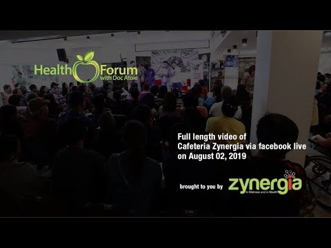 2 August 2019 | Cafeteria Zynergia via Facebook Live