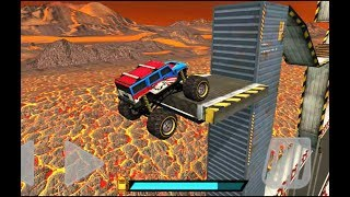 """Crazy Monster Bus Stunt Race 2 """"Map Volcano"""" 4x4 Monster Truck Android Gameplay #2"""