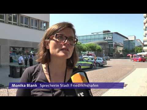 Bombendrohung in Friedrichshafen: Buchhornplaz gesperrt