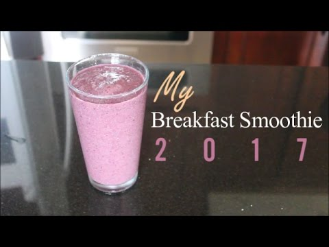 Video My Breakfast Smoothie 2017! Clears Skin, Burns Fat, & Boosts Metabolism