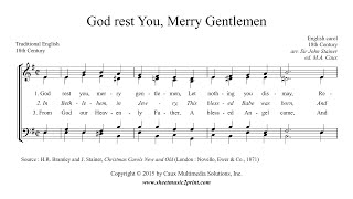 God Rest You, Merry Gentlemen - Choir SATB