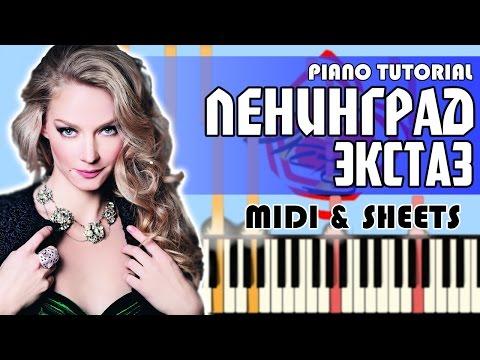 Ленинград - Экстаз | На Пианино + Ноты