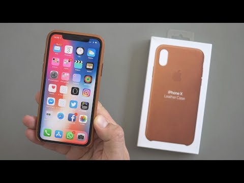 iPhone X: original Lederschutzhülle von Apple | deutsch