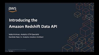 Amazon Redshift Data API