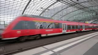 Walking in Berlin Hauptbahnhof, The Main Railway Station