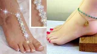 Latest Beaded Anklets Designs / Beach Feet Jewelry Designs#