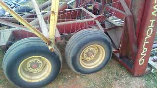 Using pallets with a New Holland bale wagon