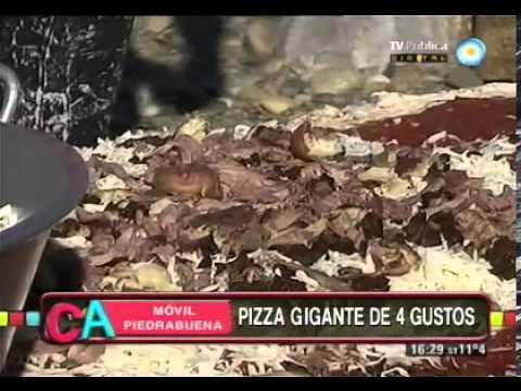 Pizza gigante de 4 gustos Parte 1