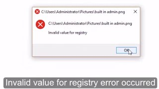 Fix Invalid value for registry error in #Windows 10 Built-in Administrator account