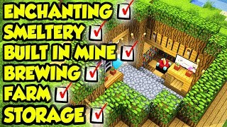 Minecraft ULTIMATE Survival House Tutorial (How to Build)