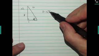 Special Right Triangles 30-60-90 Whole Number Middle Side