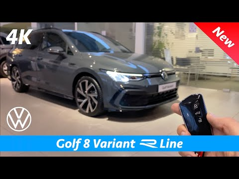 Volkswagen Golf 8 Variant R Line 2021 - First FULL review in 4K | (Dolphin Gray Metallic)
