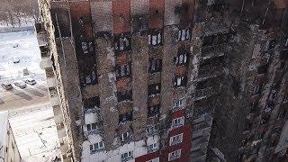 Сгоревший дом на Олимпийской