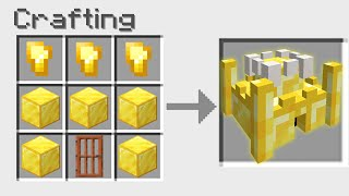 Minecraft BUT You Can Craft a CASTLE From ANY BLOCK!