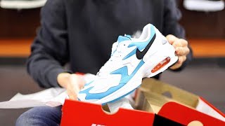 separation shoes ba300 93239 ... Unboxing Sneakers Nike Air Max2 Light Blue Lagon AO1741-100   Freesneak  Shop