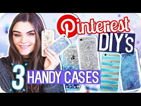 3 HANDYHÜLLEN DIY's - Phone Cases selber machen // Pinterest Inspired & Verlosung // I'mJette