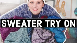 TRYING ON ALL MY HAND KNIT SWEATERS // Sharing Favourites And Fails