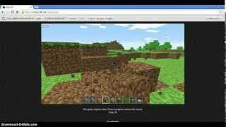 Como Jugar A Minecraft Sin Descargar Nada (mini Gameplay)