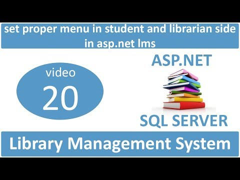 set proper menu in student and librarian side in asp.net lms
