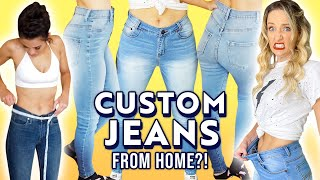 We Try CUSTOM MADE Jeans *Is It Worth It?* by Clevver Style