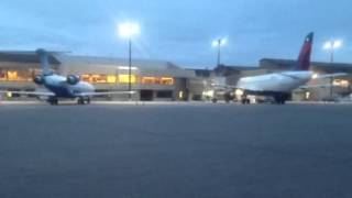 Morning bank at Bozeman Yellowstone International Airport
