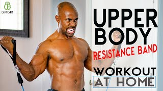 RESISTANCE BAND | CHEST AND SHOULDERS WORKOUT AT HOME | FITBEAST