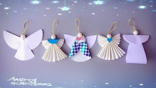 ABC TV | 5 Tips | How To Make Angel Christmas Ornaments From Paper - Craft Tutorial