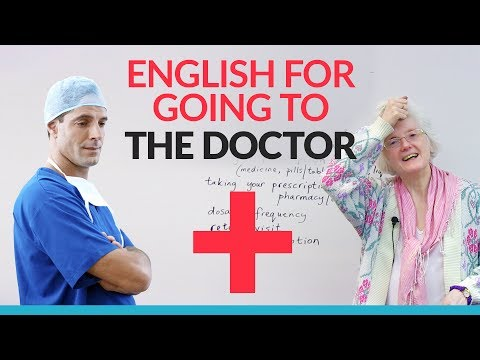 English Vocabulary for visiting the DOCTOR