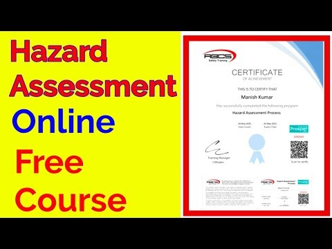 Hazard Assessment Online Free courses. - YouTube