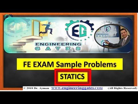 FE Exam | FE Sample Problems#2 | Statics - YouTube