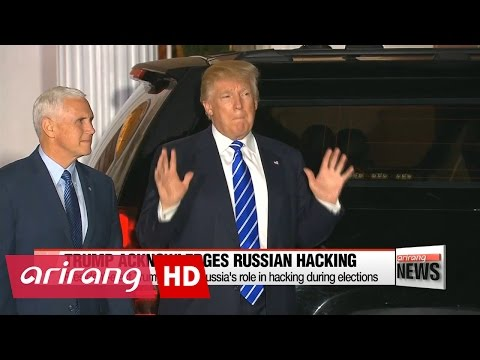 President-elect Trump admits Russia's role in hacking during elections