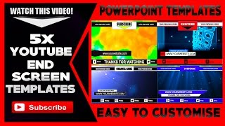 End Screen Templates YouTube PowerPoint Download