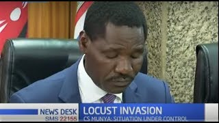 CS Munya deploys four additional aircrafts to thwart locust invasion in Meru, Isiolo and Samburu