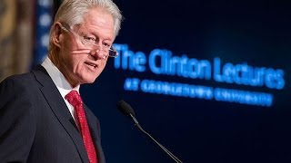Second In Clinton Lecture Series On Policy