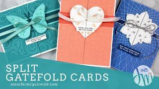 Split Gatefold Cards (Use Up Your Ribbon)