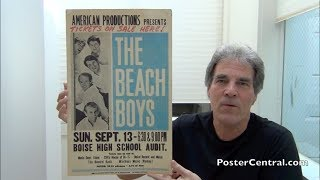 Beach Boys 1964-67 Concert Posters – Blue & White 'Tour Blanks' - Pt. 1