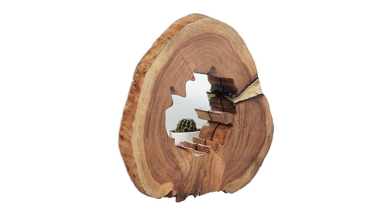 Video von: Holzspiegel rustikal Messing