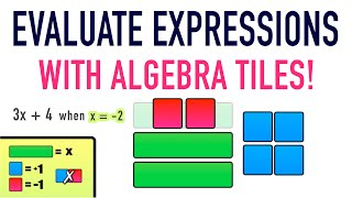 ☆ Learn to evaluate expressions using algebra tiles | Common Core Algebra