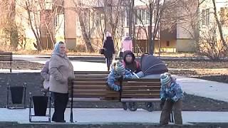 На улице Веспремской в Курске благоустроили сквер