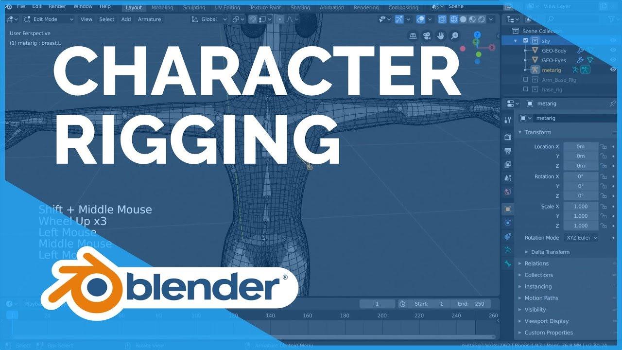 Character Rigging - Blender 2.80 Fundamentals