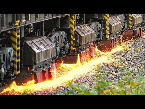 RAIL GRINDER in Action | RAIL GRINDING TRAIN Speno RR 32 M-3